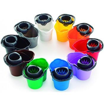 Cubos de fregar completo de 14 Litros en varios colores