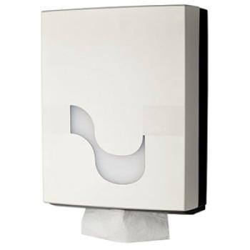 Dispensador Celtex blanco para papel secamanos H3 plegado w y z