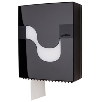 Dispensador Celtex Negro para papel higiénico Mini Jumbo