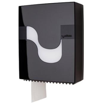 Dispensador Celtex Negro para papel higiénico Mini Jumbo