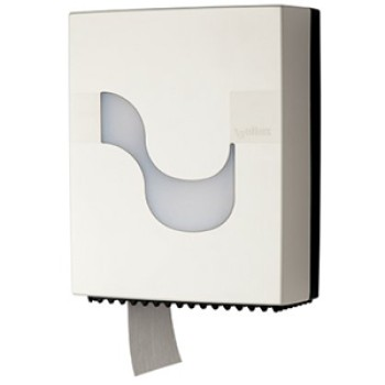 Dispensador Celtex Blanco para papel higiénico Mini Jumbo