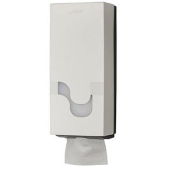 Dispensador Celtex Blanco para papel higiénico tipo Hoja a Hoja