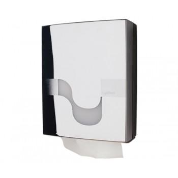 Dispensador Celtex para papel secamanos H3 plegado W y V en Cromado