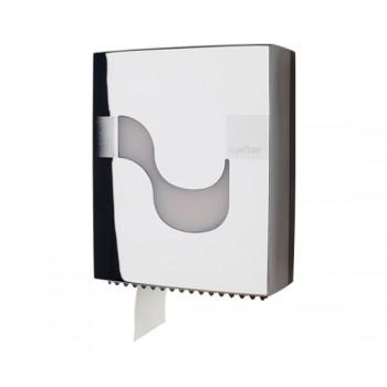 Dispensador Celtex en Cromado para papel higiénico Mini Jumbo