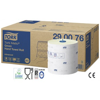 Toallas Secamanos Tork Matic Advanced color Verde