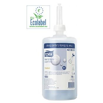 Jabón Tork Premium Suave tipo líquido para cuerpo y cabello