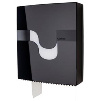 Dispensador Celtex Negro para papel higíenico Maxi Jumbo